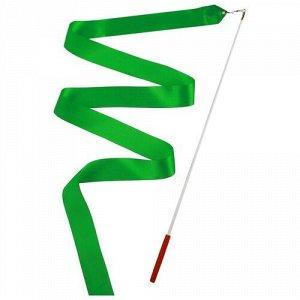 Лента гимнастическая 2 м. с палочкой , цв. зеленый
