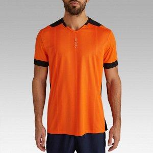 Футболка мужская F500 оранжевая KIPSTA