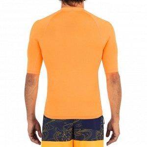 Футболка для серфинга солнцезащитная с короткими рукавами мужская 100S OLAIAN