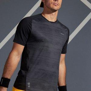 Футболка для тенниса мужская tts 500 dry черная artengo