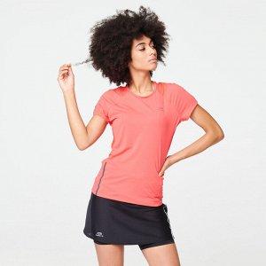 Футболка для бега run dry+ женская розовая kalenji