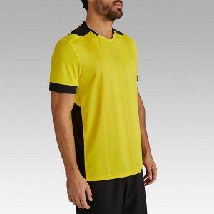 Футболка мужская F500 желтая KIPSTA