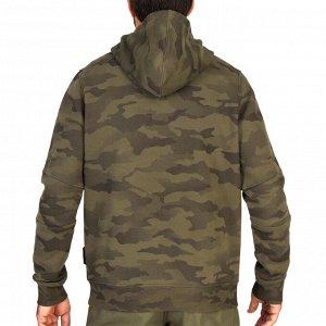 Толстовка муж. с капюшоном для охоты камуфляжная 500 SOLOGNAC