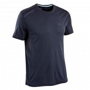 Футболка для бега муж. run dry+ темно-синяя kalenji