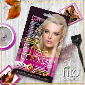 Cтойкая крем-краска для волос серии «Effect Сolor» 50 мл, тон 9.3 жемчужный блондин