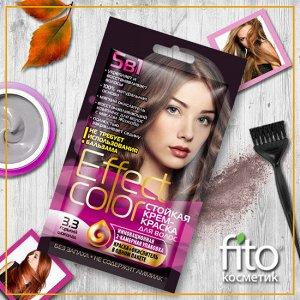 Cтойкая крем-краска для волос серии «Effect Сolor» 50 мл, тон 3.3 горький шоколад