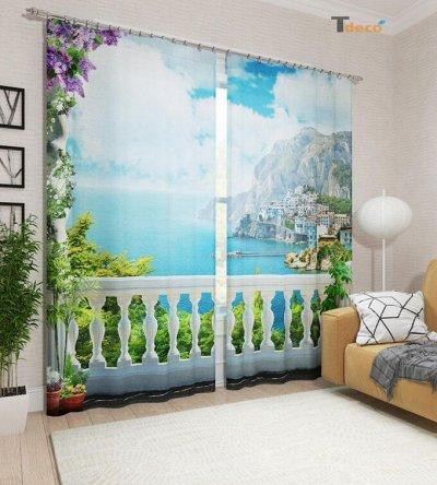 Яркие шторы и постельное в твой яркий дом! Цены просто wow! — Фотошторы - Габардин — Шторы