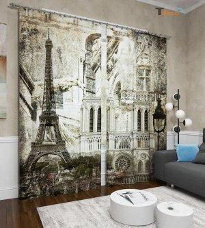 Париж в стиле ретро. Размер 3х1,6м.