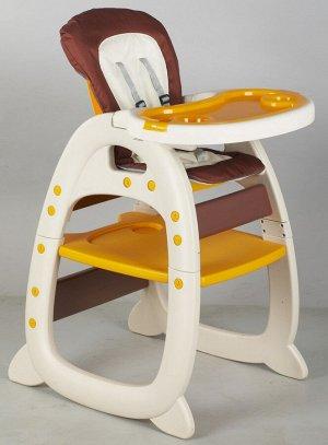 Детский стул для кормления 505 (желто/коричневый)