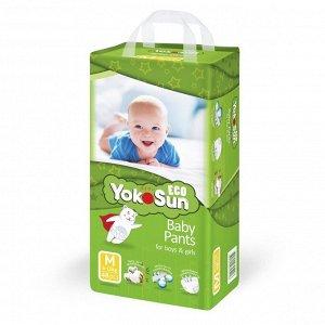 YokoSun детские подгузники-трусики ECO размер М (6-10кг.) 48шт. 5296