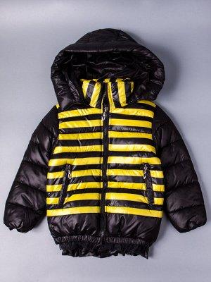 Куртка осенняя для девочки, пчелка, черный