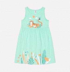 Платье для девочки Crockid К 5590 весенняя зелень к1246