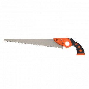 Ножовка по дереву LOM, выкружная, обрезиненная рукоятка, 7-8 TPI, 350 мм
