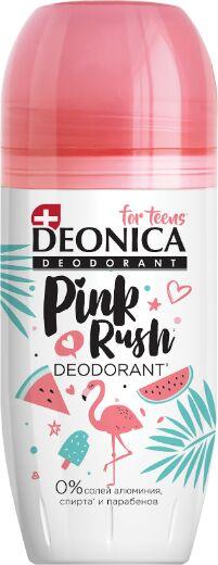 DEONICA Антиперспирант For TEENS ролик Pink Rush 50мл /6/ 03789 4