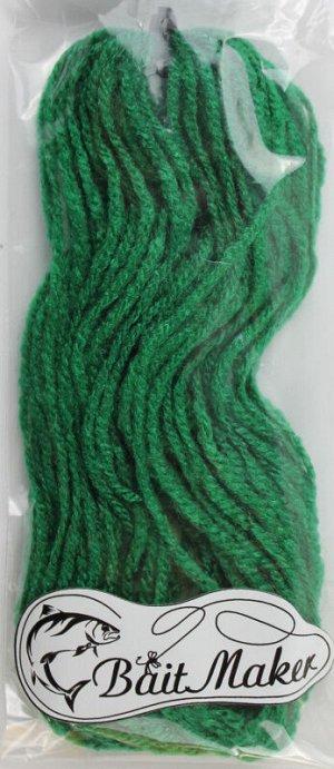 Материал для вязания приманки (шерсть) 10 м темно зеленый