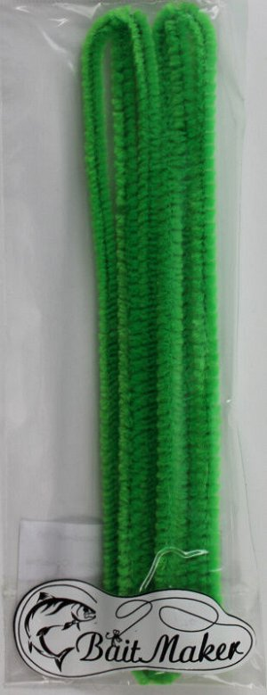 Материал для вязания приманки BaitMaker (синель-проволока, 3шт, 6мм*30см, темно-зеленый)