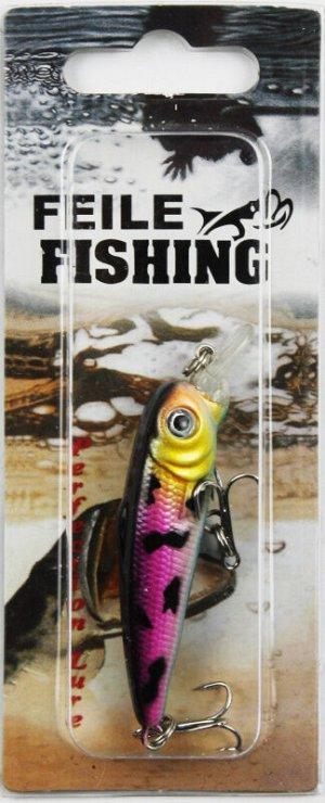 Воблер Feile Fishing (6гр, 7см, чер спина, голубое брюхо, малиновые бока)