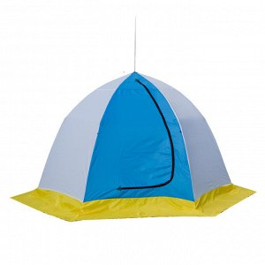Палатка зимняя Стэк Elite (2-местная, бело-синяя)
