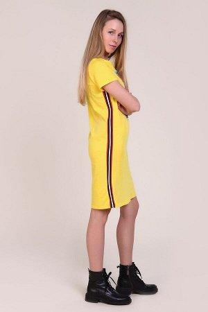 Платье в спортивном стиле - Unique - 404 - желтый