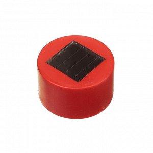 """Фонарь садовый на солнечной батарее """"Трапеция"""", 31см, d=4.5 см,1 led, пластик,красная ножка"""