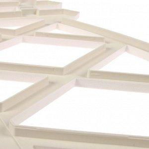 Декоративное ограждение для дачи и сада, 35 ? 232 см, 4 секции, пластик, белое, MODERN, Greengo