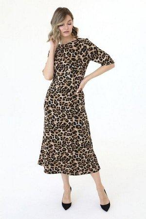 Платье приталенное с короткими рукавами, 01.079.10.200