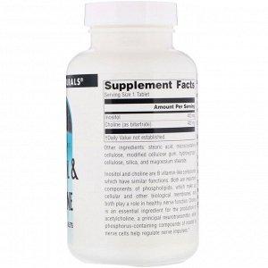 Source Naturals, Inositol &amp -  Choline, 800 мг, 100 таблеток
