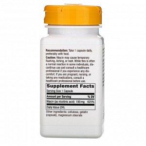Nature&#x27 - s Way, Niacin, Vitamin B3, 100 mg, 100 Capsules