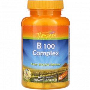 Thompson, B 100 Complex, 60 Tablets