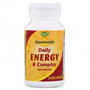 Nature&#x27 - s Way, Fatigued to Fantastic! Daily Energy B Complex, 30 Veg Capsules