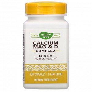 Nature&#x27 - s Way, Calcium Mag & D Complex, 100 Capsules
