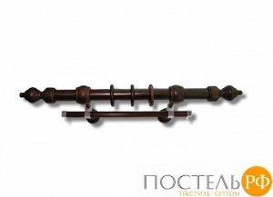 Филиграно - металлодеревянные карнизы Ø28мм Двухрядный карниз (кольца с крючками)., 3,6 составнойм, Цвет: венге