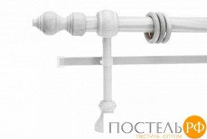 Филиграно - металлопластиковые карнизы Ø28мм Двухрядный карниз (кольца с крючками)., 2,2м, Цвет: белый