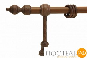 Филиграно - металлодеревянные карнизы Ø28мм Однорядный карниз., 3м, Цвет: дуб рустик