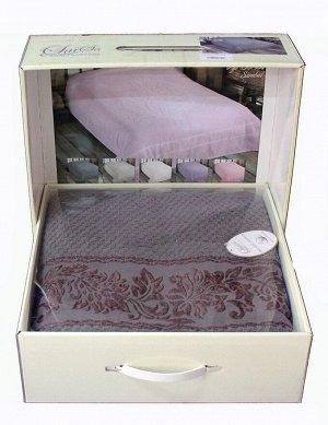 Покрывало 160*220 хлопок (подарочная коробка) SUMBUL серый
