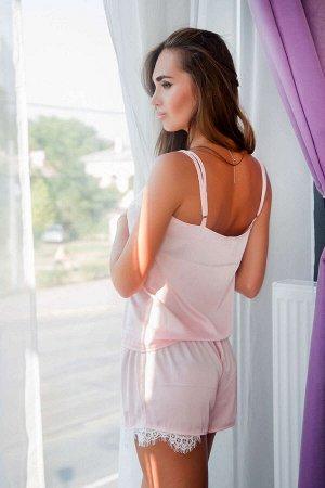 Domenica -Ночной комплект-тройка: халатик, маечка, шортики Розовый
