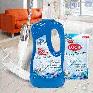 """LION """"Look"""" Средство для мытья пола """"Пыль на замок"""" 1000мл """"Голубой океан"""""""