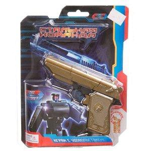 """Трансформер метал.робот-пистолет,серия """"Стальная команда"""",CRD 16,8x21,5x4 см, арт.ZYB-B2743-4."""