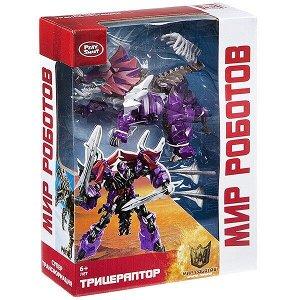 """Трансформер 2в1 Play Smart """"Мир роботов, трицераптор"""", BOX 25,6x19,7x7,7см, арт.8160."""