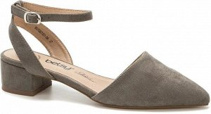 907007/01-06 хаки иск.замша женские туфли открытые
