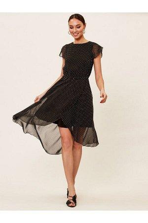Платье арт. 2003-00-51381 черный, белый