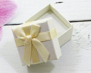 Подарочная коробочка под кольцо(5*5) (Беж) 005-33