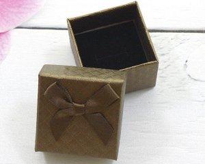 Подарочная коробочка под кольцо(5*5) (Коричневая)005-36