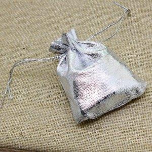 Подарочный мешочек серебристый (7*9 см)