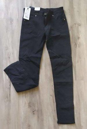 Женские плотные джинсы-стрейч, цвет черный