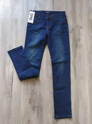 Женские тонкие летние джинсы, цвет темно-синий