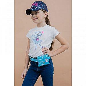 PAVO Сумка поясная детская, ПВХ, сплав, сумка 10х11см, ремень 2,3х70/80см, 2 дизайна, СД19-01