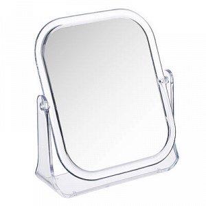 ЮниLook Зеркало настольное прямоугольное, пластик, стекло, 15х18см, прозрачный