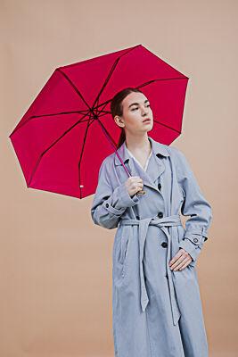 Зонт женский, механика, металл, пластик, полиэстер, 55см, 8 спиц, 6 цветов, 3375S