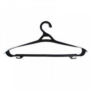 Вешалка для одежды, пластик, р.46-48, черная, Р2901